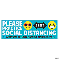 Practice Social Distancing Custom Banner - Large