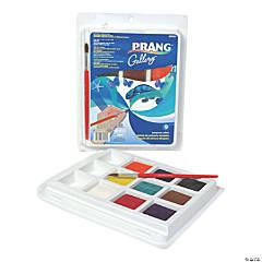 Prang® Gallery™ Tempera Cake Set, 9 Colors with Brush