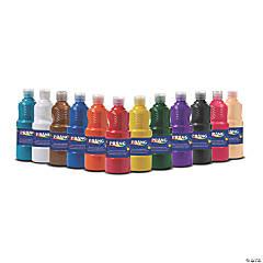 Prang® Tempera Paint Set, Assorted Colors, 16 oz Bottles, Set of 12