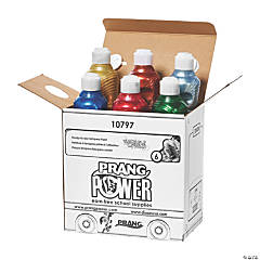 Prang® Washable Ready-to-Use Tempera Paint, 16 oz, Metallic, 6 Colors
