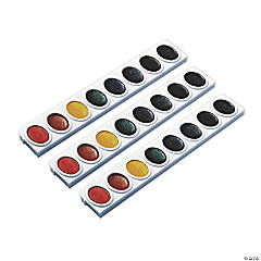 Prang® Watercolors, Oval Pan Refill Tray, 8 Colors, 9 Trays
