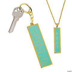 Pray Pendant & Key Ring Set