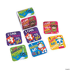 Pre-K/Kindergarten Math Goals Stickers