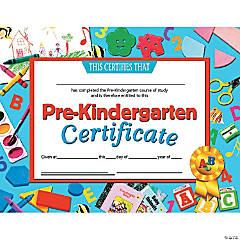 Pre-Kindergarten Certificate, 30 per Pack, 6 Packs