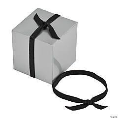 Pre-Tied Black Ribbons with Elastic