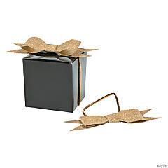 Pre-Tied Elastic Gold Glitter Bows
