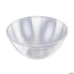 Premium 96 oz. Clear Diamond Design Round Disposable Plastic Bowls (24 Bowls)