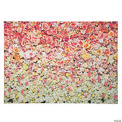 Premium Bright Pink Floral Polyester Backdrop