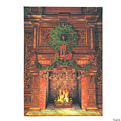 Premium Christmas Fireplace Backdrop