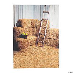 Premium Hay Bales Scene Backdrop