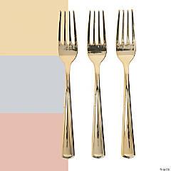 Premium Metallic Plastic Forks - 24 Ct.
