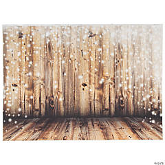 Premium Rustic Twinkling Lights Backdrop