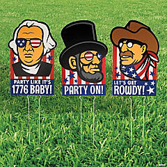 President Icons Outdoor Yard Sign Set