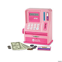 Pretend and Play® Teaching ATM  Bank - Pink