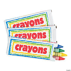 Printable Box Crayons - 4 Pc.