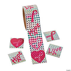 Prismatic Pink Ribbon Stickers