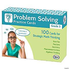 Problem Solving Practice Cards, Grade 3