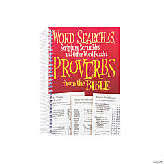 Proverbs Word Searches & Scripture Scrambles Spiral Book