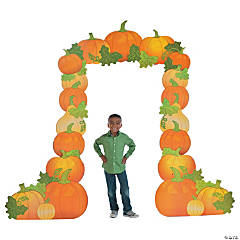 Pumpkin Arch Cardboard Stand-Up Halloween Decoration
