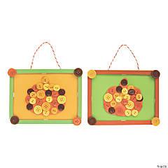 Pumpkin Button Frame Craft Kit