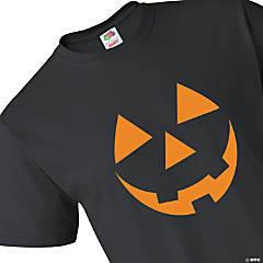 Pumpkin Face Adult's T-Shirt - Large