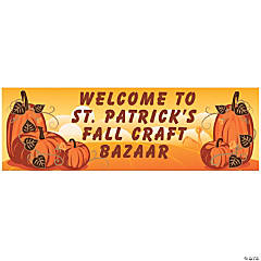 Pumpkin Fall Custom Banner - Medium
