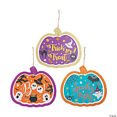 Pumpkin Halloween Door Sign Set