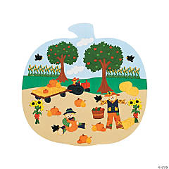 Pumpkin Patch Shaped Sticker Scenes
