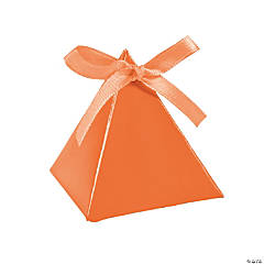 Pumpkin Triangle Favor Boxes