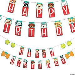 Puppy Birthday Party Garland