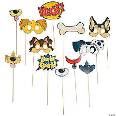 Puppy Party Photo Stick Props- 12 Pc.