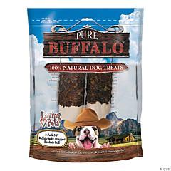 "Pure Buffalo 5""-6"" Buffalo Jerky Wrapped Rawhide Roll 2/Pkg-"
