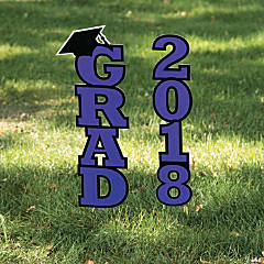 Purple 2018 Grad Yard Sign