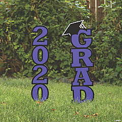 Purple 2020 Grad Yard Signs
