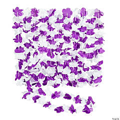 Purple & White Hawaiian Flower Polyester Leis
