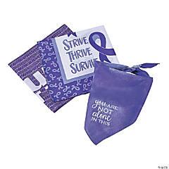 Purple Awareness Ribbon Survivor Bandanas