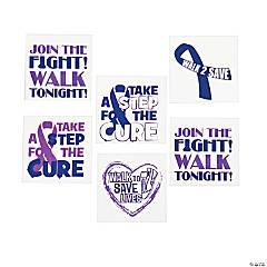 Purple Awareness Ribbon Tattoos