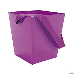 Purple Candy Buckets with Ribbon Handle