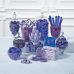 Purple Candy Buffet Supplies