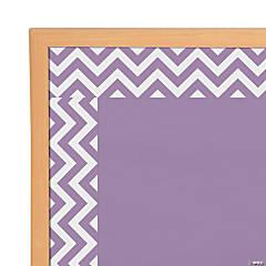 Purple Chevron Bulletin Board Borders