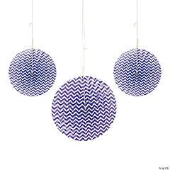 Purple Chevron Hanging Fans