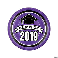 Purple Class of 2019 Dinner Plates