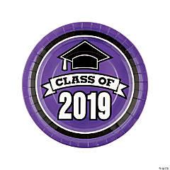 Purple Class of 2019 Paper Dinner Plates - 25 Ct.