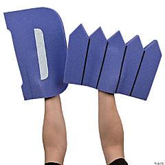 Purple D Fence Foam Hands