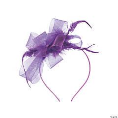 Purple Derby Fascinator Headband