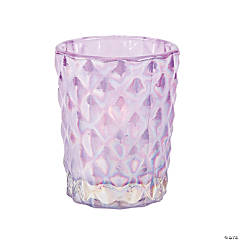 Purple Diamond Texture Votive Candle Holders