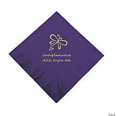 Purple Enchantment Personalized Napkins with Gold Foil - Luncheon