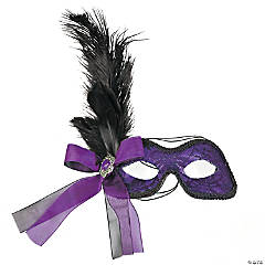 Purple Feather Masks