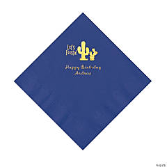 Purple Fiesta Personalized Napkins with Gold Foil - Luncheon