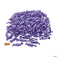 Purple Foil-Wrapped Caramels